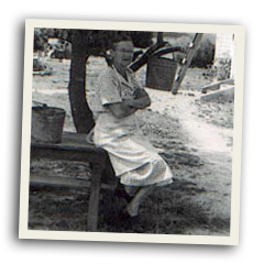 Bass Farm Sausage : Florence Jenkins Bass in 1953