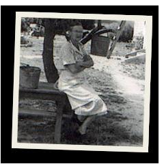 Bass Farm Sausage : Florence Jenkins Bass in 1953