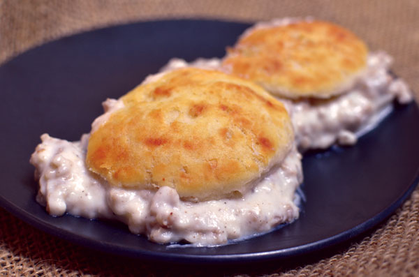 Ralph's Sausage Gravy and Biscuits